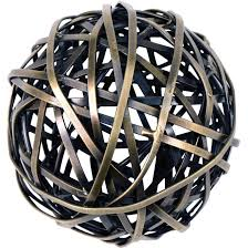 Decorative Sphere Balls Enchanting Wrapped Brass Decorative Sphere Large Ten Thousand Villages Canada