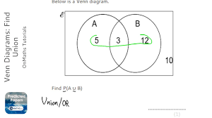 Venn Diagram Aub Venn Diagrams Find Union Grade 5 Onmaths Gcse Maths Revision