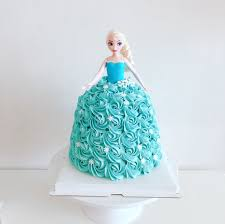 Barbie Doll Cake Frozen Elsa Cake Princess Girl Birthday Food