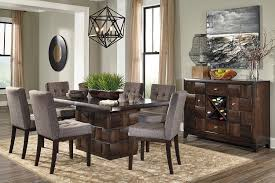 amazing marvelous idea dining room sets for 8 dark brown table set piece brown dining room chairs decor