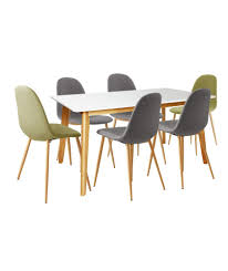 Argos Kitchen Furniture Buy Hygena Beni Dining Table With 2 Green 4 Grey Chairs At Argos