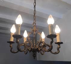 vintage french gilt bronze rustic chandelier birdcage style ceiling light la97937 loveantiques com