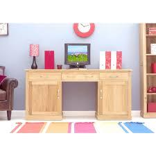 hidden office desk. Modern Light Oak Large Hidden Office Twin Pedestal Desk-ZUR17010 Desk I