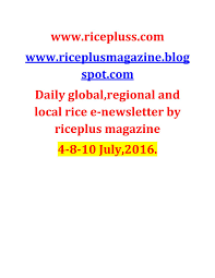 4 July 10 July 2016 Daily Global Regional And Local Rice