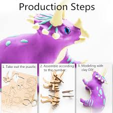 <b>DIY</b> Dinosaur <b>Clay</b> Cotton Charm Play <b>Playdough</b> Suit With Skeleton ...