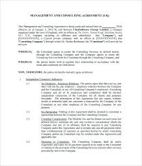 Consultant Contract Template Fascinating Media Contract Template Social R Agreement Management Consultant Uk