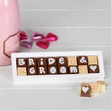 personalised chocolates make a great wedding present idea