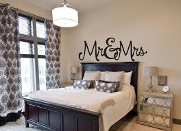 bedroom wall design. Incridible Mr Mrs In Bedroom Wall Decor Design