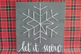 snowflake string art tutorial and let