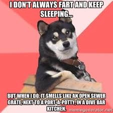 I don't always fart and keep sleeping… But when I do, it smells ... via Relatably.com
