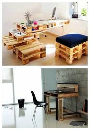 euro pallet furniture. Pallet Stacking Office DIY Furniture From Euro Pallets - 101 Craft Ideas For Wood S