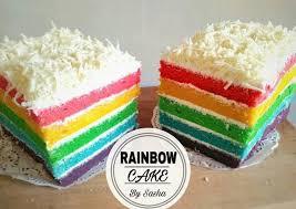 Rainbow Cake Kukus Nyliem Resep Di 2019 Indonesian Food And