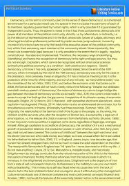 Political Science Literature Review Sample Take A Look At This