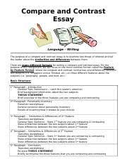 compare contrast essay format example languagewriting 6 pages compare contrast essay format