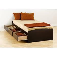 Prepac Edenvale Twin Platform Storage Bed, Espresso - Walmart.com