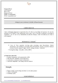 Resume Format For Freshers Bcom Graduate Gentileforda Com