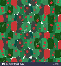 Christmas Seamless Repeat Pattern With Green And Red Brushstrokes