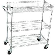 kitchen utility cart. Home-it Rolling Utility Cart On Wheels Heavy-Duty Commercial-Grade Or Kitchen And Tool (NSF)