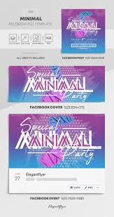 Minimal Free Facebook Cover Template In Psd Post Event