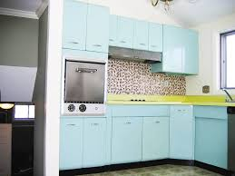 Retro Kitchen Renovation Kitchen Foremost Metal Kitchen Cabinets Inside Vintage 1941
