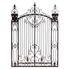 garden gate metal wall art