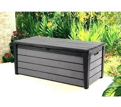 patio box patio storage bench bench deck box gallon all weather outdoor wicker storage boxes with
