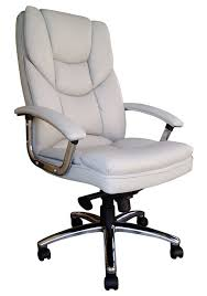 White Leather Executive Desk Chair
