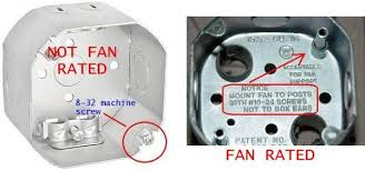 ceiling fan outlet box. name: fan_rated_box.jpg views: 8718 size: 29.7 kb ceiling fan outlet box i