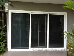 3 panel sliding security screen door fixed