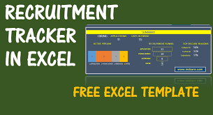 Recruitment Tracker Spreadsheet Free Hr Excel Template V1
