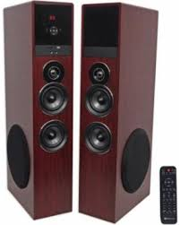 home theater tower speakers. rockville tm80c cherry powered home theatre tower speakers 8\ theater h