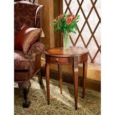 butler specialty plantation cherry round wood end table