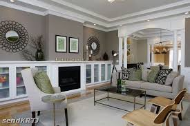 Living Room Design Tan And Grey