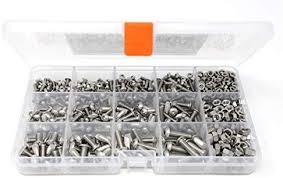 iExcell 460 Pcs M3/M4/<b>M5</b> x <b>6</b>/<b>10</b>/<b>12</b>/<b>16</b>/<b>20</b> mm Stainless Steel 304 ...