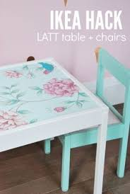 table and chairs for toddlers. ikea latt hack // take the latt kids table and chairs make it over for toddlers
