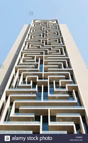 modern architecture buildings. Detail Of Modern Architectural Details On New High-rise Apartment Building In Dubai United Arab Emirates Architecture Buildings T