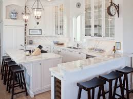 Traditional Kitchen By Renaissance Design Studio   Studio Gleaming White Carrara Marble Counters  Cabinets With Countertops E66