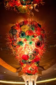 picture of blown glass chandelier