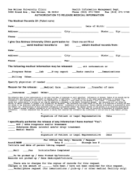 Sample Of Medical Records 19 Printable Medical Records Request Letter Forms And