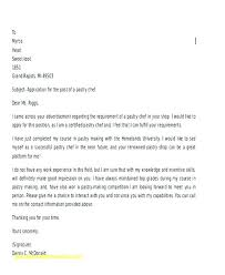 Work Cover Letter Amazing Cover Letter For Culinary Job Chef Cover Letter Example Sous Chef