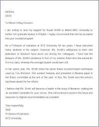 Recommendation Letter For Student Scholarship Generic Letter Of Recommendation For Student Sample Nursing