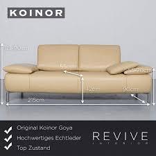 Amazonde Koinor Koya Designer Leder Sofa Beige Echtleder