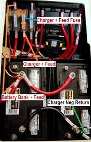 battery bank & charger wiring questions sailboatowners com forums dual battery wiring diagram camper at Dual Battery Charger Wiring Diagram