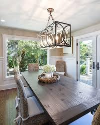 Pendant Lights, Inspiring Kitchen Table Light Fixtures Kitchen Lights Ideas  Rectangle Cage Metal Pendant Light