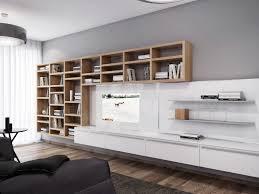 white entertainment wall unit  interior design ideas
