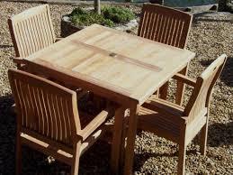 4 seater 100cm square armchair teak set