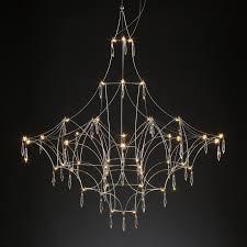 modern crystal chandelier a art decor suspension led lamp for living room dining room bedroom home lighting h035 wooden chandelier brushed nickel chandelier