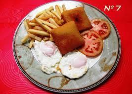 Resultado de imagen de san jacobos con patatas fritas