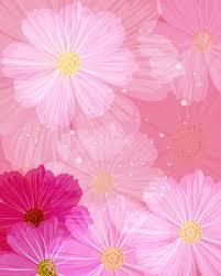 ピンクの花のイラストフリー素材壁紙背景no620ピンク赤紫