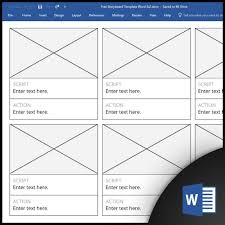 Microsoft Work Free Free Storyboard Templates For Microsoft Word
